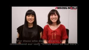 JUNNA & Minori Suzuki from WALKÜRE – Anime Expo 2017 video message